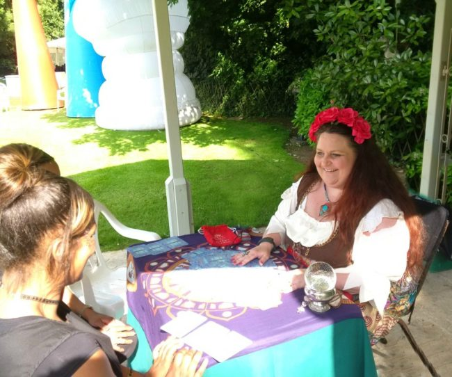 tarot reader for hire summer garden party tea party UK england scotland wales london oxford cambridge spiritualevents.co.uk
