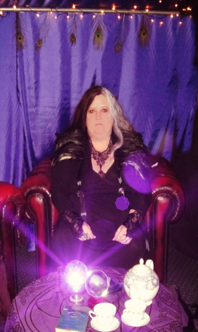 Dee Vynar Hoggwarts tarot runes psychic crystal ball reader for hire event party spiritualevents.co.uk