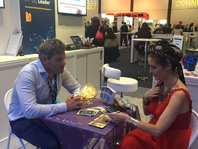 Opentext at The SAP SuccessConnect event at the excel tarot reader