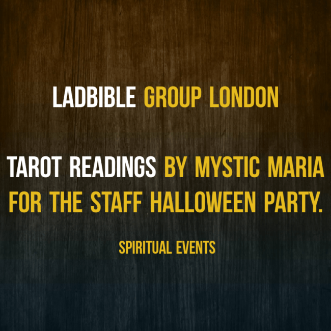 Halloween party event ideas unique spiritual events http://www.spiritualevents.co.uk/halloween-psychic-spirit-ghost tarot palmistry psychic readers for hire lads bible