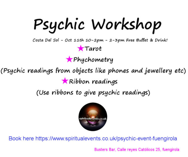 Psychic workshop Spain