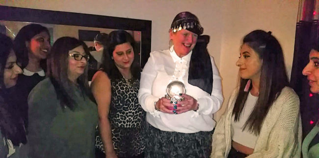 clairvoyant party psychic games party ideas UK spiritualevents.co.uk