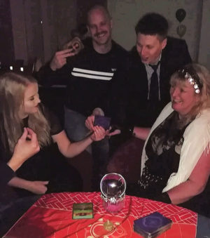 Dec xmas party natasha rose psychic for hire spiritualevents.co.uk Lincoln