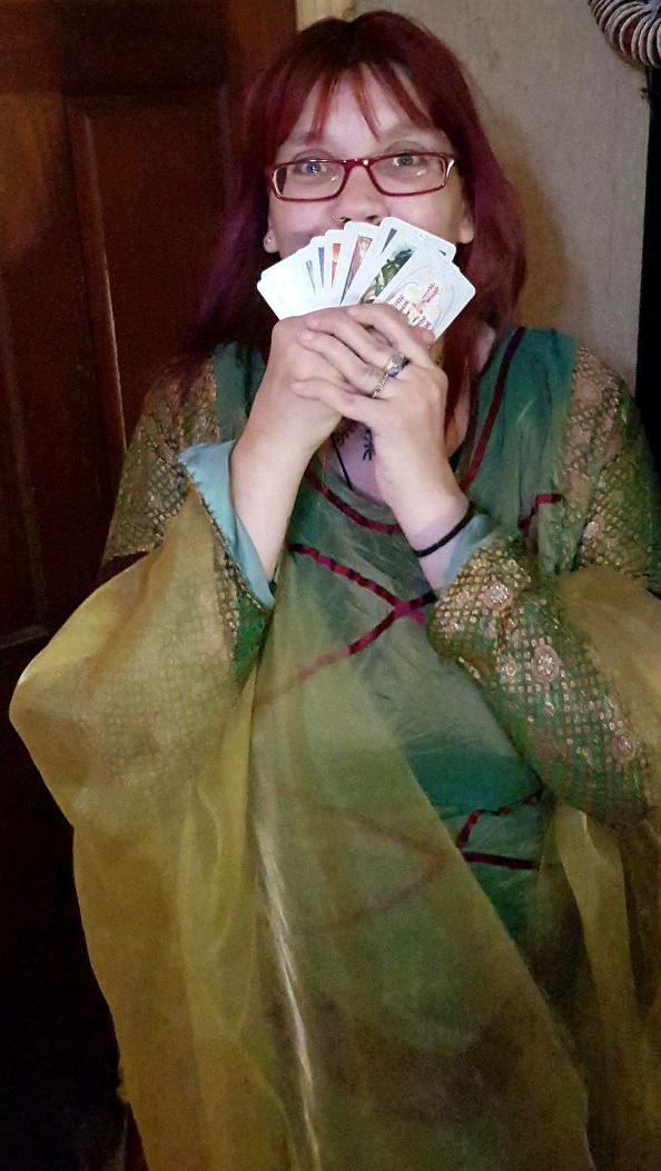"""""""Hedvig Starhawk for hire tarot palm reader gypsy fortune teller spiritualevents.co.uk"""