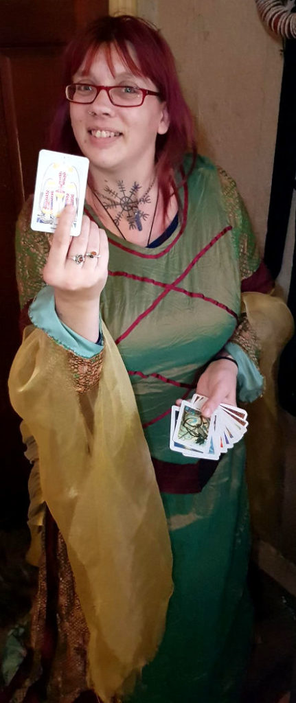 """Hedvig Starhawk for hire tarot palm reader spiritualevents.co.uk"