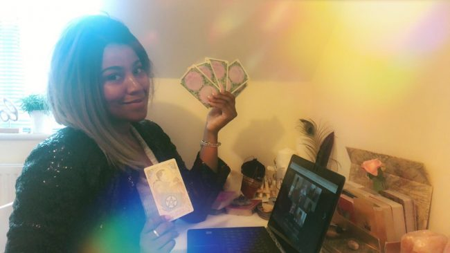 psychic webcam party online tarot card reader spiritualevents.co.uk