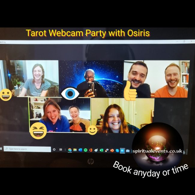 webcam tarot party online virtual spiritualevents.co.uk