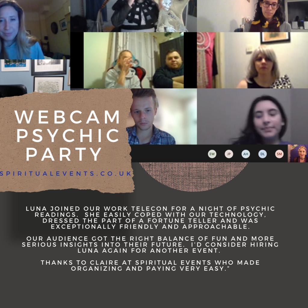 psychic webcam party skype zoom spiritualevents.co.uk